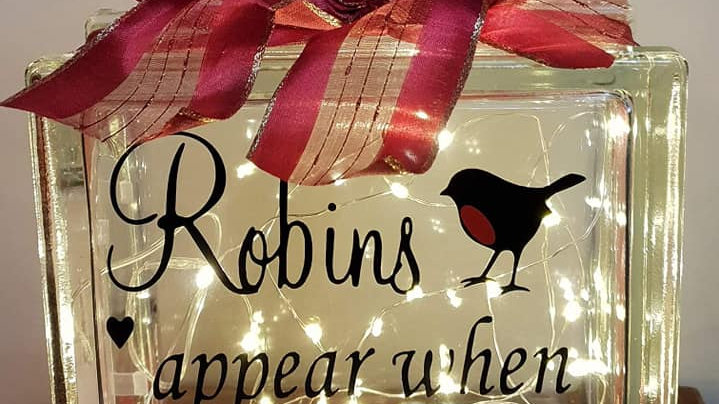 Robins appear when loved ones are near light block
