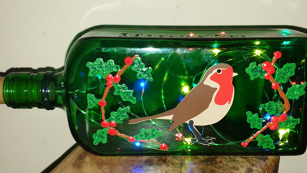 Recycled bottle lights - Christmas