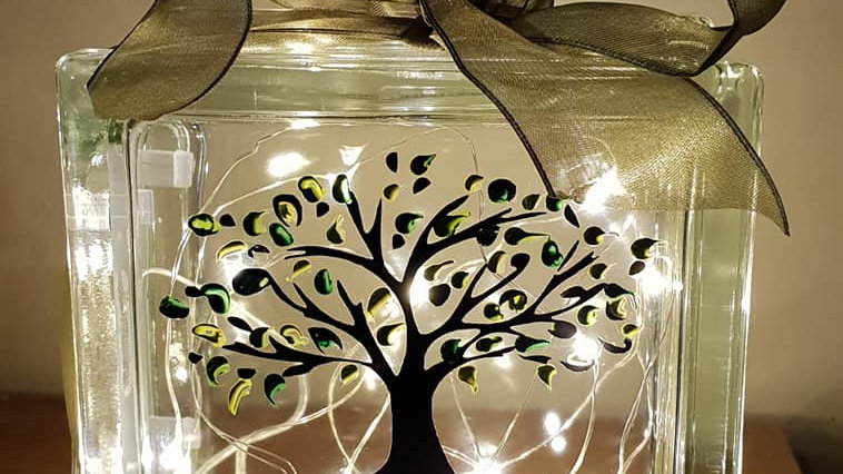 Tree of Life hand finished Light Block
