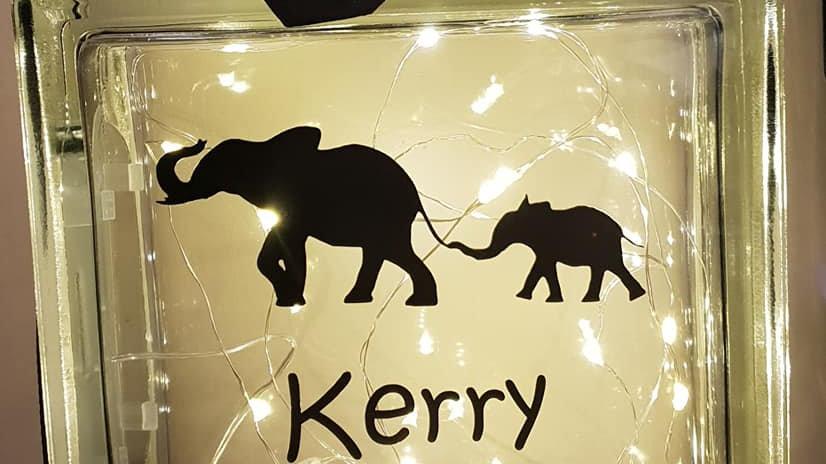 Elephant birthday light block