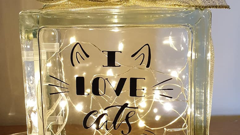 I love cats light block