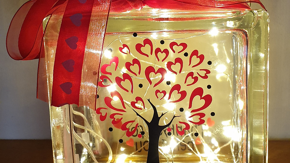 Tree of love personalised light block