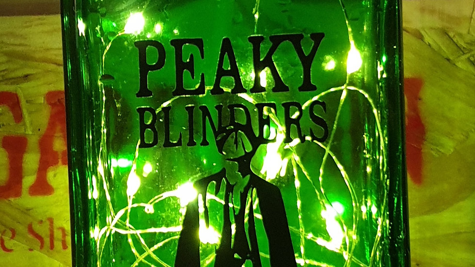 Peaky Blinder Recycled Bottle Lights