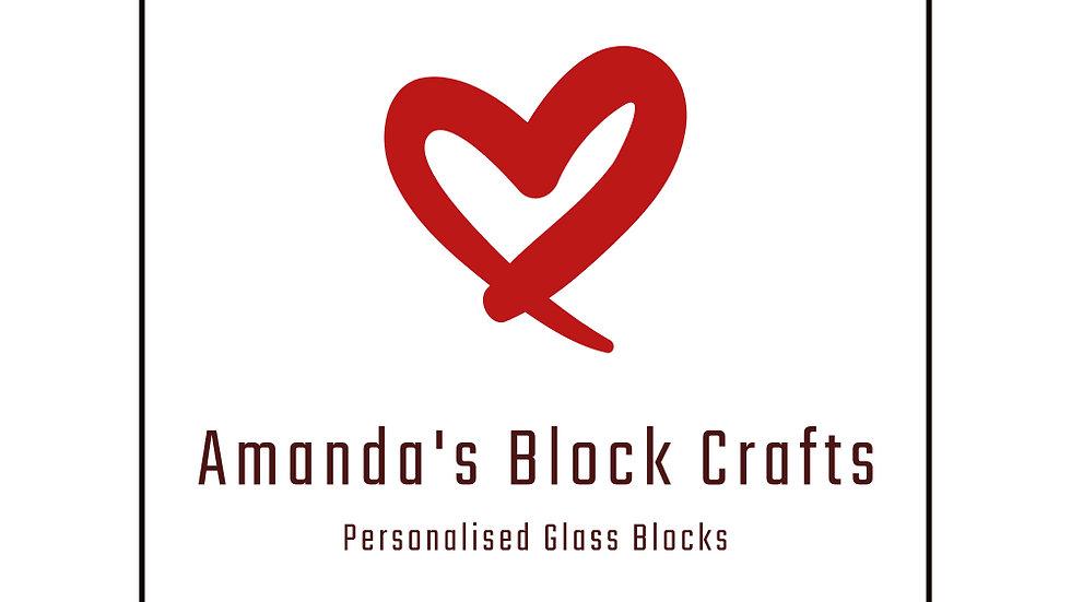 Blank blocks personalised to order
