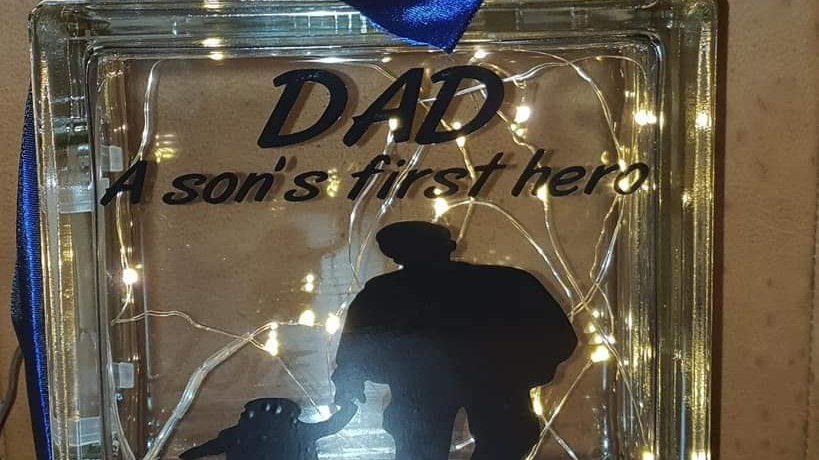 Dad A Son's first hero light block