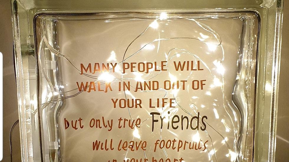 Friends leave footprints light block