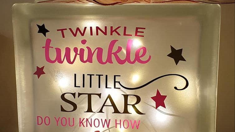 Twinkle twinkle little star light block