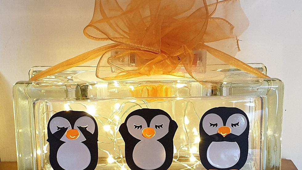 See no, hear no speak no penguin light block