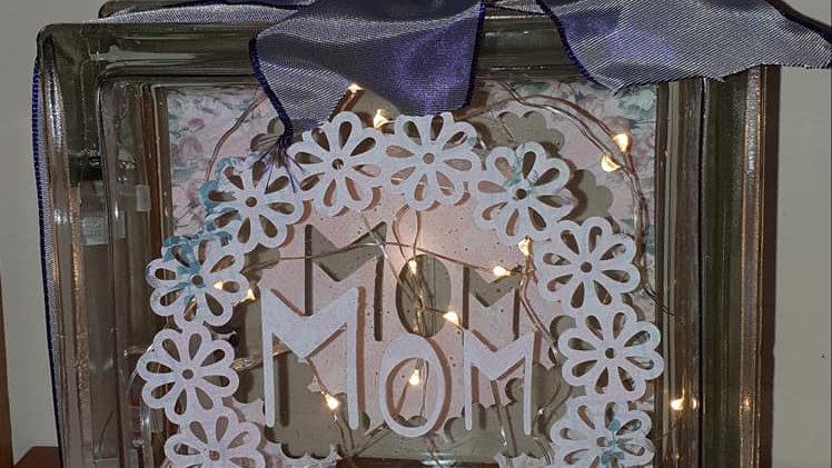 Mom daisy wreath light block