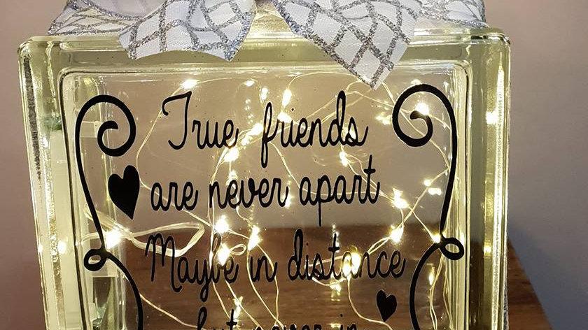 True friends are never apart light block