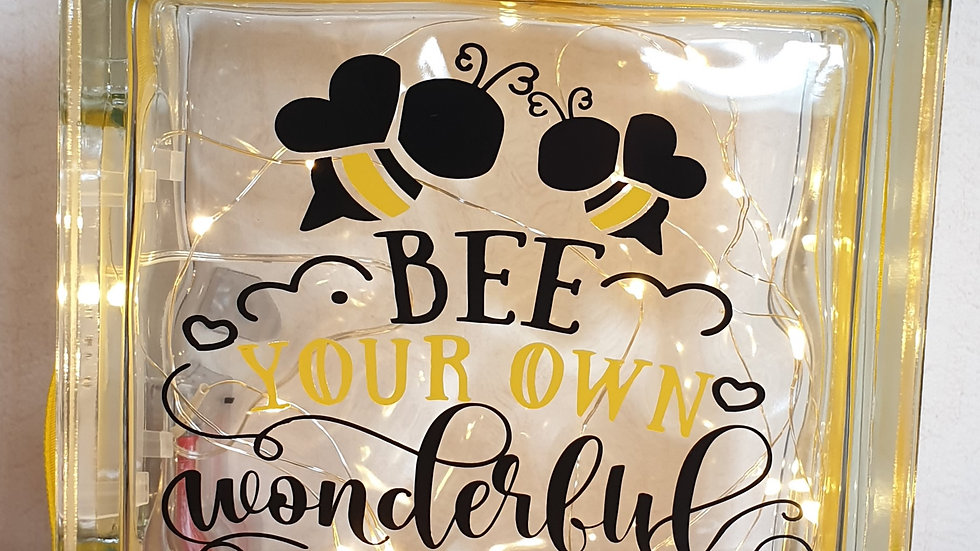 Bee your own wonderful self light block