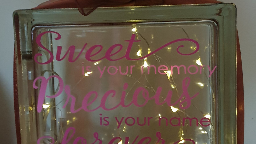 Sweet is your memory light block