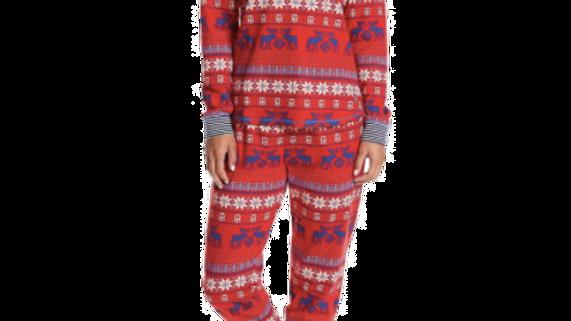 Tommy Hilfiger Women's  Th Moose Fairisle Long Sleeve Pajama Set