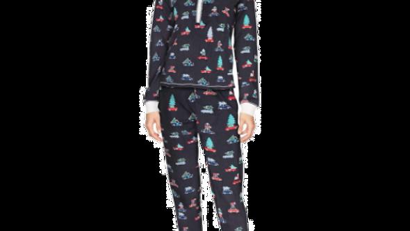 Tommy Hilfiger Women's Large  Black/Red  Long Sleeve Pajama Set
