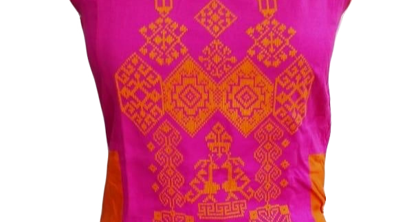 Branded Embroidered Multicolored Long Kurta