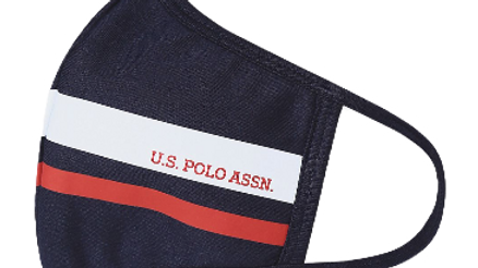U.S. POLO ASSN Unisex Adults Navy Face Mask (Pack of 3)