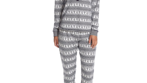 Tommy Hilfiger Women's Large Nautical Fairisle Long Sleeve Pajama Set