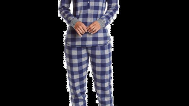 Tommy Hilfiger Women's  Bf Buffalo Check Long Sleeve Pajama Set