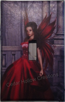 Red gothic Fairy-Light Switch Cover
