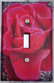 light switch covers,handmade,dahlia,rose