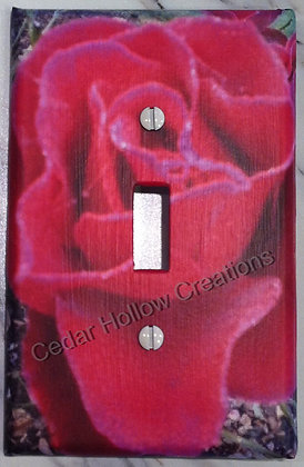 Pink Rose-Light Switch Cover