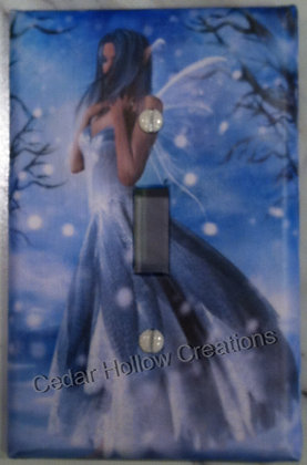 Winter Fairy Light Switch Cover