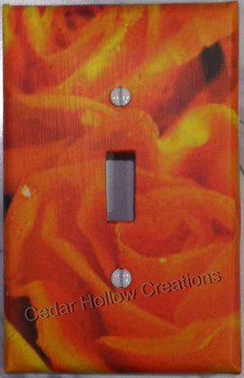 Tangerine Rose-Light Switch Cover