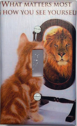 Cat-What Matters Most-Light Switch Cover