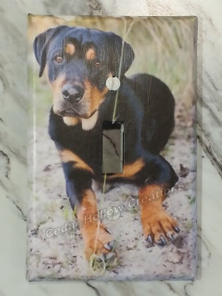 Rottweiler-Light Switch Cover