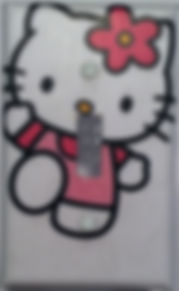 light switch covers,handmade,hello kitty,dancing,sparkly,glitter