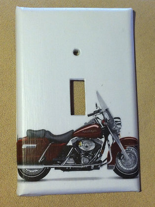 Red Harley Davidson Motorcycle - Light Switch Cover