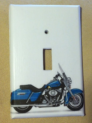 Blue Harley Light Switch Cover