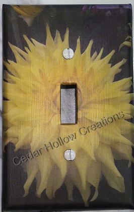 Yellow Dahlia-Light Switch Cover