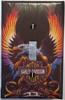 Rainbow Eagle with HD Logo-Light Switch Cover