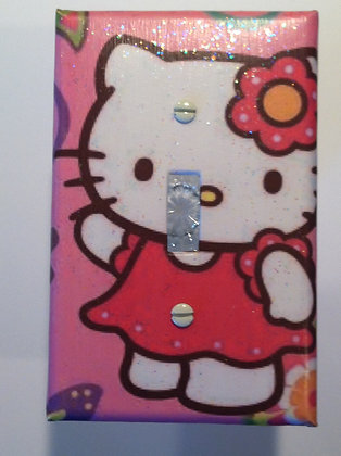 Hello Kitty w/ Flower-Switch Cover