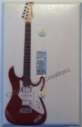 Red Guitar-Light Switch Cover