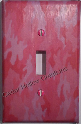Pink Camo-Light Switch Cover