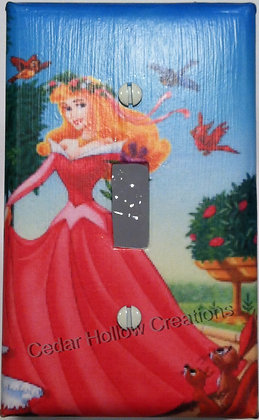 Sleeping Beauty and Animals-Light Switch Cover