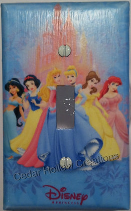 Princesses and Pink Castle-Light Switch Cover