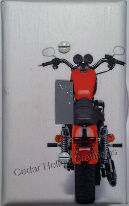 Red Motorcycle-Light Switch Cover