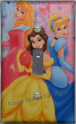 Disney Princesses-Light Switch Cover