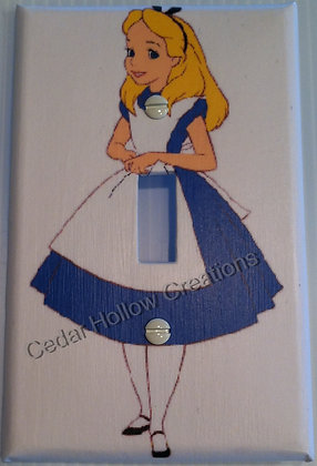 Alice In Wonderland-Light Switch Cover