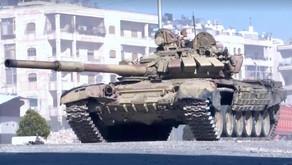 T-72B tank vs BGM-71 TOW anti tank missile   November 26th 2016   Syria