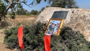 Syria: A memorial plaque is installed at the site of the Major Roman Filipov's last battle