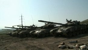 Azerbaijani military show more weapons and equipment captured during the advance in Nagorno Karabak
