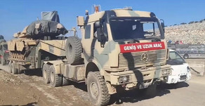 Turkish military attempts to block the Syrian Army's path to Saraqib | January 2nd 2020 | Syria