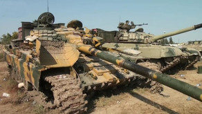 Azerbaijani military showing captured damaged and abandoned equipment and weaponry