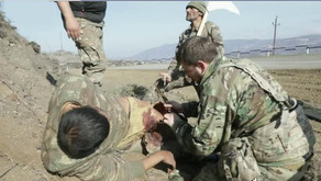 Armenians and ANNA News crew saving wounded Azerbaijani soldiers
