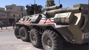 Russian armored vehicles pelted with rocks again during Russian-Turkish patrol in Idlib, Syria