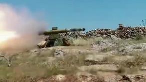 Jihadists using guided missiles   May 15th 2019   Northern Hama, Syria